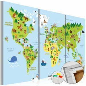 Korkbild - Children's World [Cork Map]
