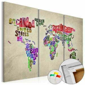 Korkbild - Colorful Countries [Cork Map]