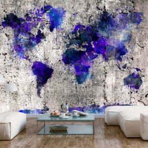 Fototapete - World Map: Ink Blots