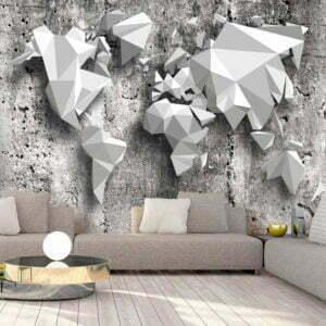 Fototapete - World Map: Origami