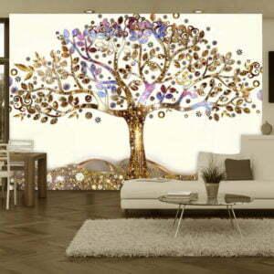 Fototapete - Goldener Baum