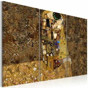 Wandbild - Klimt Inspiration - Der Kuss