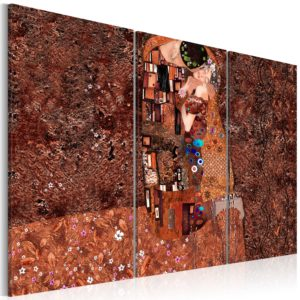 Wandbild - Klimt Inspiration - Die Farbe der Liebe