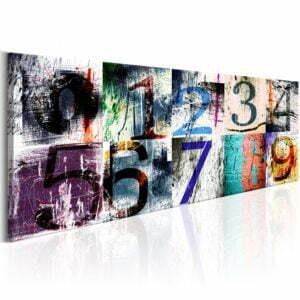 Wandbild -  Colourful Numbers