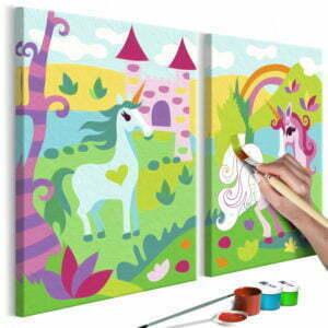 Malen nach Zahlen - Märchenhafte Einhörner