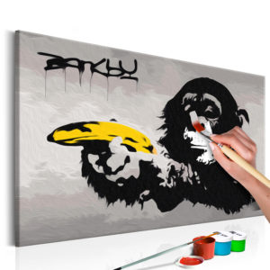 Malen nach Zahlen - Affe (Banksy Street Art Graffiti)