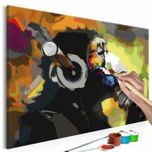 Malen nach Zahlen - Affe mit Kopfhörer (Multicolor)