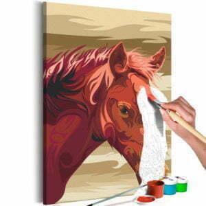 Malen nach Zahlen - Braunes Pferd