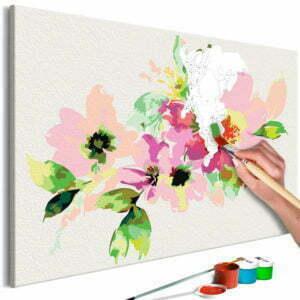 Malen nach Zahlen - Bunte Blumen