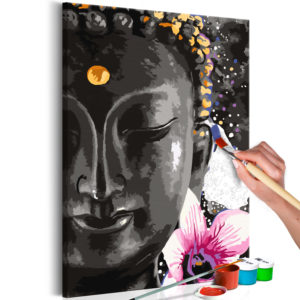 Malen nach Zahlen - Buddha and Flower