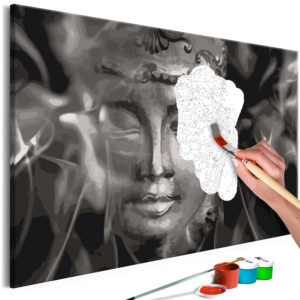 Malen nach Zahlen - Buddha in Black and White