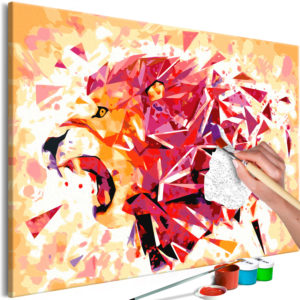 Malen nach Zahlen - Abstract Lion