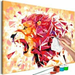 Malen nach Zahlen - Abstract Lion