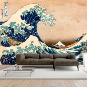 Fototapete - Hokusai: The Great Wave off Kanagawa (Reproduction)