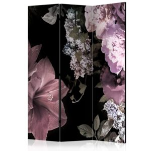 """""""3-teiliges Paravent - Flowers from the Past [Room Dividers]"""""""