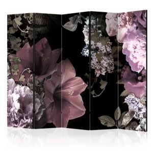 """""""5-teiliges Paravent - Flowers from the Past II [Room Dividers]"""""""