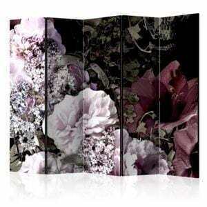 """""""5-teiliges Paravent - Vintage Garden II [Room Dividers]"""""""