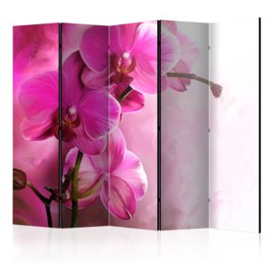 """""""5-teiliges Paravent - Pink Orchid II [Room Dividers]"""""""