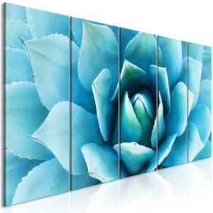 Wandbild - Agave (5 Parts) Narrow Blue