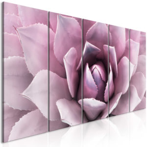 Wandbild - Agave (5 Parts) Narrow Pink