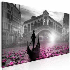 Wandbild - Magic Venice (1 Part) Narrow Grey