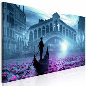 Wandbild - Magic Venice (1 Part) Narrow Blue