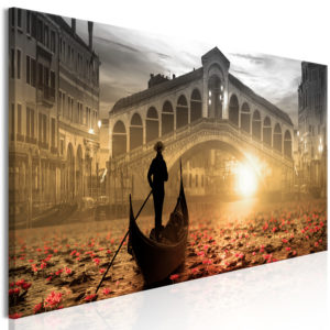 Wandbild - Magic Venice (1 Part) Narrow Orange