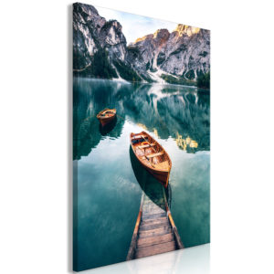 Wandbild - Boats In Dolomites (1 Part) Vertical