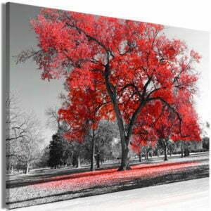 Wandbild - Autumn in the Park (1 Part) Wide Red