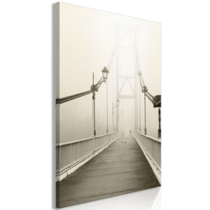 Wandbild - Bridge in the Fog (1 Part) Vertical