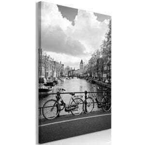 Wandbild - Bikes On Bridge (1 Part) Vertical