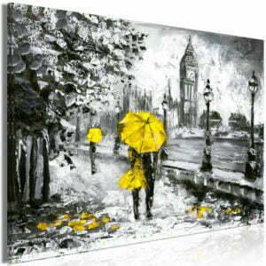 Wandbild - Walk in London (1 Part) Wide Yellow