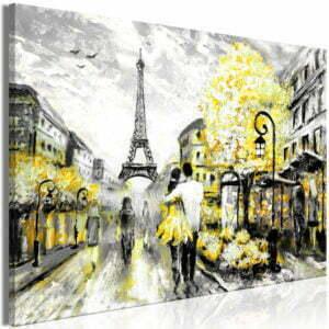 Wandbild - Colourful Rendez-Vous (1 Part) Wide Yellow