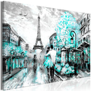 Wandbild - Colourful Rendez-Vous (1 Part) Wide Turquoise