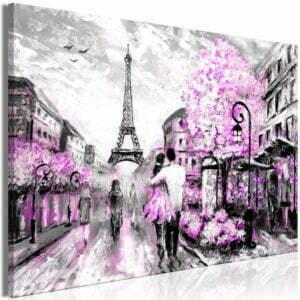 Wandbild - Colourful Rendez-Vous (1 Part) Wide Pink