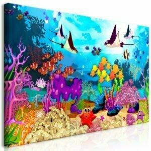 Wandbild - Underwater Fun (1 Part) Wide