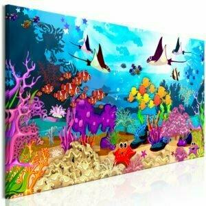 Wandbild - Underwater Fun (1 Part) Narrow