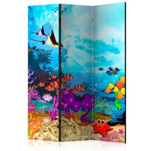 """""""3-teiliges Paravent - Colourful Fish [Room Dividers]"""""""