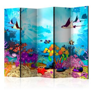 """""""5-teiliges Paravent - Colourful Fish II [Room Dividers]"""""""