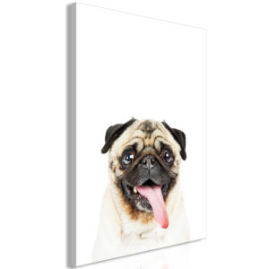 Wandbild - Pug (1 Part) Vertical