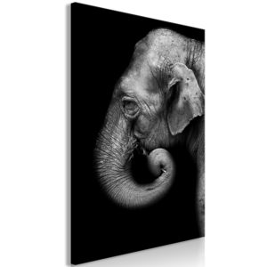 Wandbild - Portrait of Elephant (1 Part) Vertical