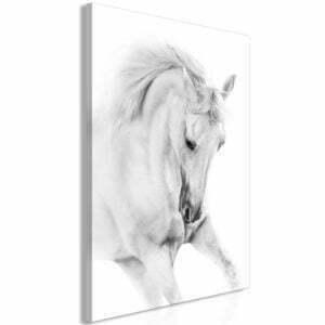 Wandbild - White Horse (1 Part) Vertical