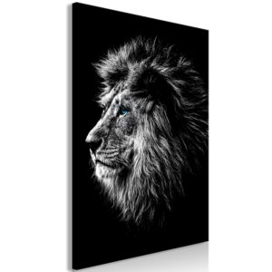 Wandbild - Blue-eyed Lion (1 Part) Vertical