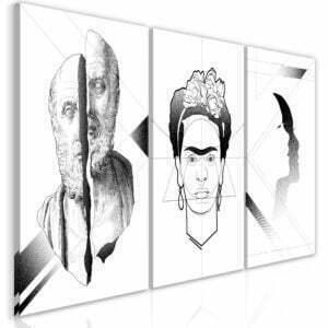 Wandbild - Facial Composition (3 Parts)