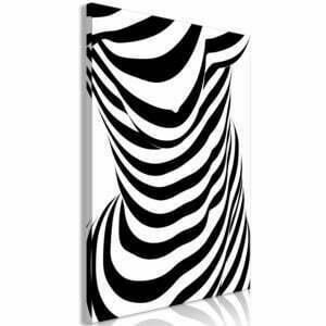 Wandbild - Zebra Woman (1 Part) Vertical