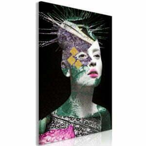 Wandbild - Colourful Portrait (1 Part) Vertical