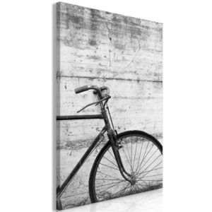 Wandbild - Bicycle And Concrete (1 Part) Vertical