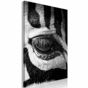 Wandbild - Zebra Eye (1 Part) Vertical
