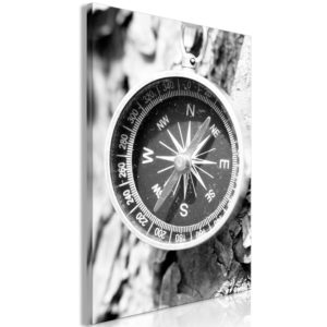 Wandbild - Black and White Compass (1 Part) Vertical