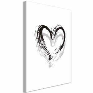 Wandbild - Brush Heart (1 Part) Vertical